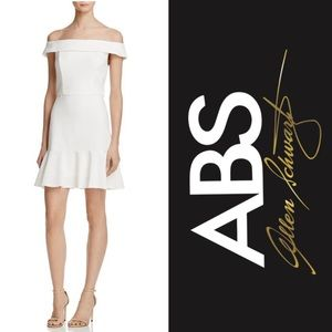 NWT ABS Allen Schwartz Off-The-Shoulder Dress -6